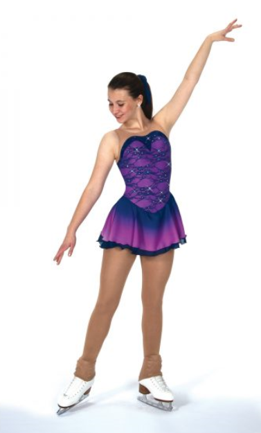Jerrys 126 Rain on Orchids Ice skate dress