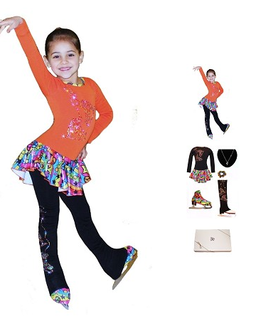 Polartec Ice skate dress and accesories